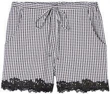 FIND Shorts Gingham Donna, Nero (Black/white Check), 48 (Taglia Produttore: X-Large)