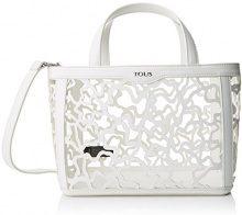 Tous Kaos Shock Pequeña - Borse Tote Donna, Bianco (White), 14x21x28 cm (W x H L)