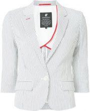 Loveless - Blazer gessato - women - Cotton/Nylon/Polyurethane - 34, 36 - WHITE