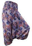 Panasiam - Pantaloni Aladino in stile ornamentale orientale, vestono dalla S alla M, (32, 34, 36 e 40 fino ad un'altezza di 175 cm, di vera viscosa (ottimo cotone))
