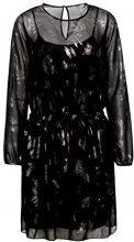 edc by Esprit 117cc1e010, Vestito Donna, Nero (Black 001), 38