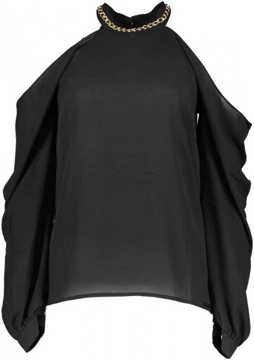 A996 Nero Guess Camicetta Maniche T Donna 71g4588219z Shirt Lunghe RqnfR8r