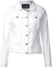 Cecil 210681 Hedda, Giacca in Jeans Donna, Bianco (White 10000), 48 (Taglia Produttore: Large)