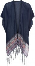 Poncho estivo con frange (Blu) - bpc bonprix collection