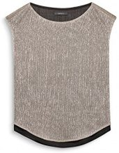 ESPRIT Collection 117EO1F012, Camicetta Donna, Beige (Light Taupe 260), 38