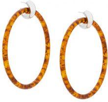 Balenciaga - Large hoop earrings - women - Acetate/metal - OS - METALLIC