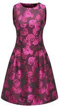 APART Fashion Glamour: Black Cherry-Blush, Vestito Donna, Mehrfarbig (Schwarz-Pink Schwarz-Pink), 36