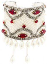 Etro - crystal pearl embellished bracelet - women - Glass Fiber - OS - Bianco