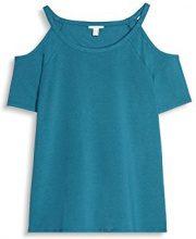 ESPRIT 077ee1k006, T-Shirt Donna, Blu (Petrol Blue 450), X-Large