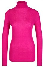 Marc Cain Collections Pullover JC 41.05 M53, Dolcevita Donna, Rosa (Pop Pink 268), 42 (Taglia Produttore: 2)