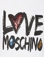 Love Moschino T-Shirt Donna, Bianco (Optical White A00), 46 (Taglia Produttore: 44)