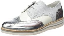 Gabor Shoes Comfort, Scarpe da Ginnastica Basse Donna, Bianco (Weiss/Silber 51), 38 EU