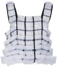 Comme Des Garçons Noir Kei Ninomiya - Top di tulle - women - Polyester/Polyurethane - S - WHITE