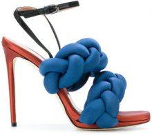 Marco De Vincenzo - Sandali intrecciati - women - Goat Skin/Polyamide/Spandex/Elastane/Leather - 36, 36.5, 37, 37.5, 38, 38.5 - BLUE