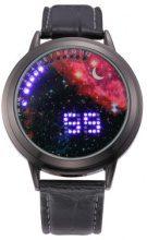 Orologio da polso LED galassia rosa