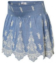 MAMA.LICIOUS Chambray Skirt Women Blue