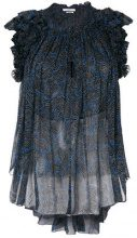 Isabel Marant Étoile - Blusa trasparente con ruches - women - Silk - 36, 38 - BLACK