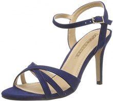 Buffalo Shoes 312703 Imi Suede - Sandali con Zeppa Donna, Blu (NAVY180), 39 EU