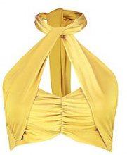 Abbie Top a fascia a portafoglio con allacciatura al collo
