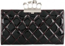 Alexander McQueen - Clutch con chiusura a tirapugni - women - Leather - One Size - Nero