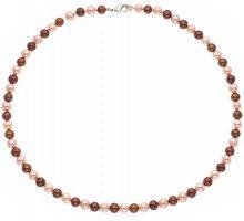 Pearls & Colors–Collana Multifilo–Acciaio Inossidabile–Perla D' Acqua Dolce–40cm–pc-cn26