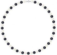 Pearls & Colors Collana di perle Donna argento 925_argento perla rotonda - AM17-COL-AG-R78-M-WHBL