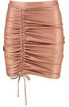 Elise Drawcord Leather Look Mini Skirt