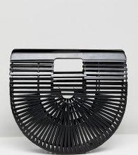 My Accessories - Pochette nera piccola con stecche - Nero