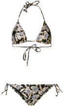 Moschino - Bikini con stampa Toy Bear - women - Nylon/Spandex/Elastane - 1, 2, 3, 4 - METALLIC