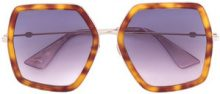 Gucci Eyewear - occhiali da sole squadrati oversize - women - Acetate/Metal (Other) - One Size - BROWN