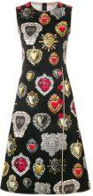 Dolce & Gabbana - sacred hearts dress - women - Spandex/Elastane/Cotton - 40, 44, 46, 42 - BLACK