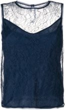 Max Mara - Chantilly lace top - women - Polyamide/Viscose - 40, 42, 44, 36, 38 - BLUE