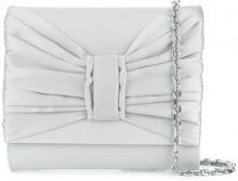 Casadei - Clutch con fiocco - women - Satin/Silk Satin/Kid Leather - OS - GREY