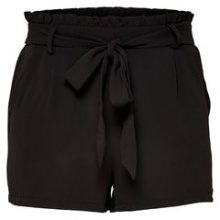 ONLY Solid Shorts Women Black
