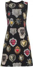 Dolce & Gabbana - Vestito svasato stampato - women - Viscose/Cotton/Silk/Spandex/Elastane - 40, 42, 36, 38, 46, 44 - BLACK
