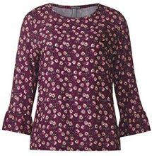 Street One 62 cm, Flower Printed Mat Mix Shirt, Vis/Ea s/j, Tank Top Donna, Violett (Master Wine 31018), 40 (Taglia produttore: 34)