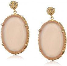 Donna-orecchini argento 925 Pasionista rodiato agata rosa 3,1 cm - 640426