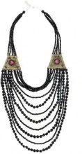 Night Market - beaded necklace - women - PVC/metal - OS - Nero