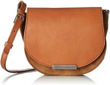 Fred de la Bretoniere 261010021, Borsa a Tracolla Donna, Marrone (Dark Brown), 7.5x20.5x19 cm