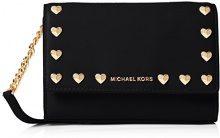 Michael Kors Ruby - Pochette da giorno Donna, Nero (Black), 5x12x18 cm (W x H L)