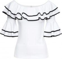 Maglia con volants (Bianco) - BODYFLIRT boutique