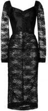 - Dolce & Gabbana - Vestito midi con motivo in pizzo - women - fibra sintetica/cotone - 38, 40, 42, 44 - di colore nero
