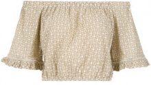 Martha Medeiros - off the shoulder top - women - Cotton - 38 - NUDE & NEUTRALS