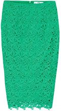 FIND Gonna a Tubino Donna, Verde (Green), 46 (Taglia Produttore: Large)