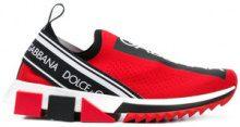 Dolce & Gabbana - Sneakers 'Branded Sorrento' - women - Polyester/Polyurethane/rubber - 35.5, 36.5, 39.5, 40 - RED