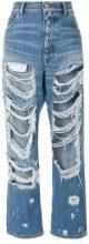 Unravel Project - destroyed denim jeans - women - Cotton/Polyester - 25, 26 - BLUE