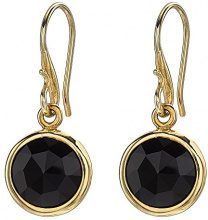 Dower & Hall Donna 925 Argento Ronde nero Onice FINEEARRING