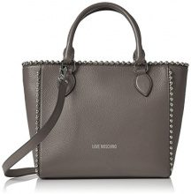 Love Moschino Borsa Vitello Pebble Grigio - Borse a spalla Donna, (Grey), 9x25x36 cm (B x H T)