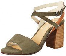 Marc O'Polo70214021301302 High Heel Sandal - Sandali Donna, Verde (Verde (Oliv)), 38
