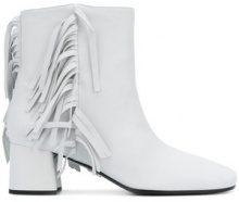 Prada - Stivali '55' con frange - women - Leather - 36, 38, 38.5, 39, 41 - WHITE